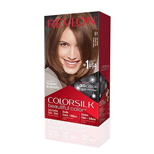 Tinte Revlon ColorSilk 51 Castaño Claro Sin Amoniaco