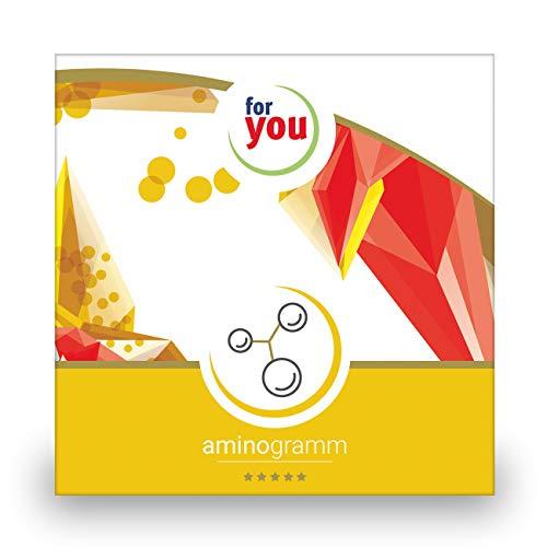 for you aminogramm I zertifizierter Labor Test zur Messung des Aminosäuren-Spiegel I Aminosäuren testen zB Glutamin Alanin Valin Leucin Test I Selbsttest für zuhause