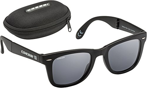 Cressi Taska Gafas Plegables, Unisex Adulto, Negro/Gris Oscuro, Talla Única