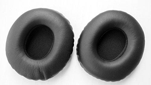Ear Pad Earpads Leather Cushion Repair Parts for Sony MDR-10RC Headphones(earmuffes/Cushion) Headset (Black)