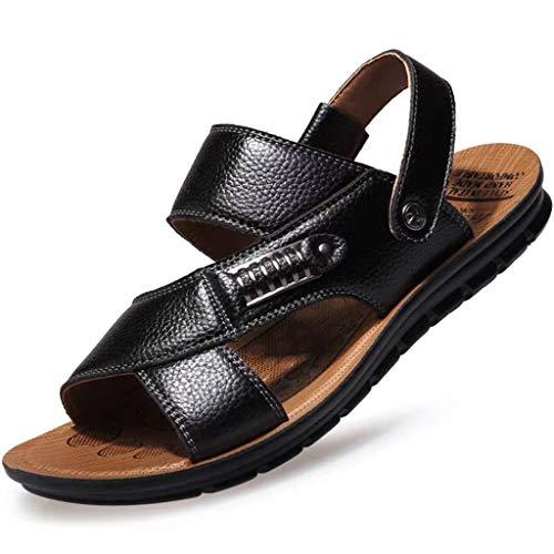 FRAUIT Sandali Uomo Pelle Morbide Summer Fashion Ciabatte Uomini Estive Antiscivolo Pantofole Ragazzo Cuoio Scarpe da Spiaggia Mare Piscina Traspirante Flip Flops Leather