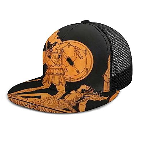 Yearinspace Gorra de béisbol unisex impresa plana con factura de la antigua diosa griega de verano ajustable empalme Hip Hop Cap sombrero de sol negro
