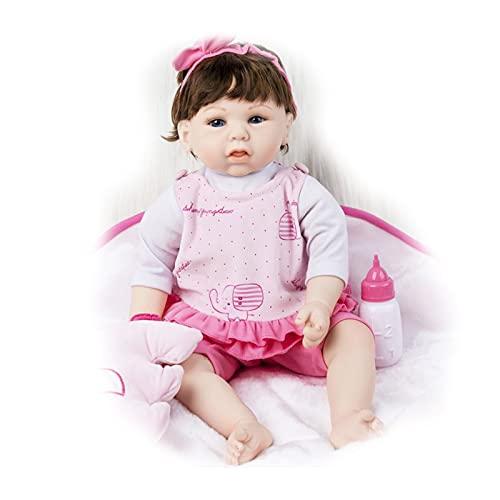LYABANG Renacer Bebe,Suave Realistic Muñecas Bebé, Silicona Hecha a Mano Realistic Hermosa Dolls para Bebés Recién Nacidos Juguetes Hermoso,Regalo De Los Niños Regalos Cumpleaños Y Navidad, Age 3 +