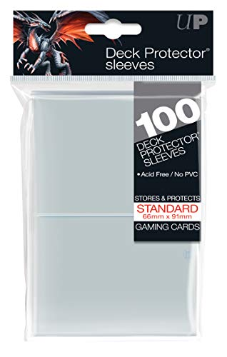 200 Ultra-Pro Clear Deck Protector Sleeves 2-Packs - Standard Magic the Gathering Size (2 Pack)