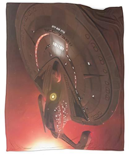 MRFSY Star Trek Starships, Star Trek Universe, manta súper suave, impresión 3D, acogedora y cálida para todas las estaciones para sofá de cama de 50 x 70 pulgadas