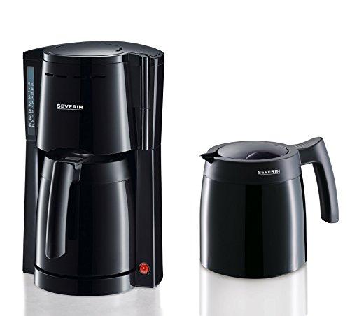 SEVERIN KA 9234 Kaffeemaschine (Für gemahlenen Filterkaffee, 8 Tassen, Inkl. 2 Thermokannen) schwarz