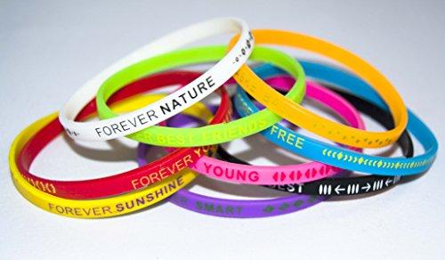 Complementos 232 Lot de 12 bracelets Forever-