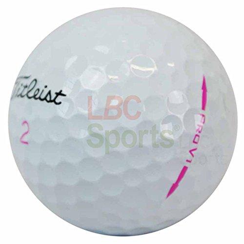 LBC Sport 100 Titleist Pro V1 Pink Limited Edition Golfbälle AAAA Lakeballs AAA/