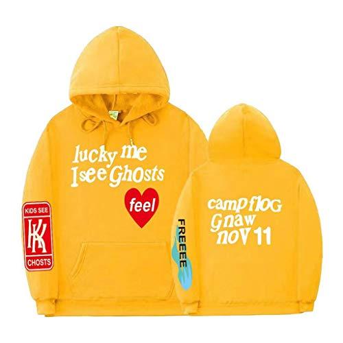 Kanye West Hoodie Lucky me I See Ghosts Kapuzenpullover Hooded Sweatshirt Hip Hop Rapper Streetwear