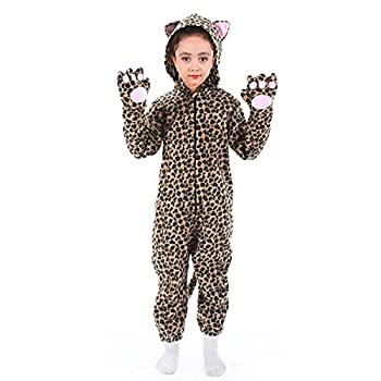 Cheetah Onesie for Kids Girls Boys Leopard Jaguar Costume