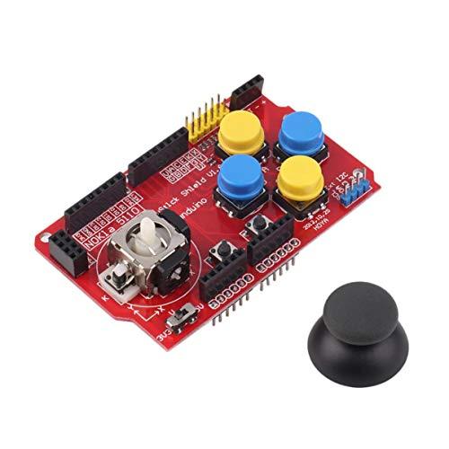 Nuevo 3.3V a 5V Gamepad Joystick Shield Módulo Juego Rocker Button Controller Tarjeta de expansión para Arduino Teclado simulado Ratón