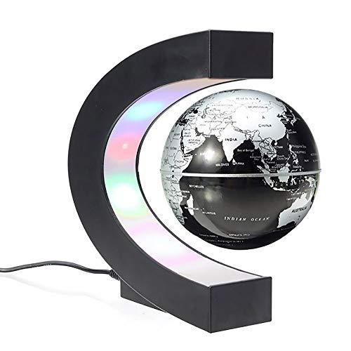 Siuber Levitación magnética Flotante Mapa del Mundo Globo, Globo Flotante con Luces LED, Novio Regalo de cumpleaños para el hogar Decoración de Escritorio de Oficina