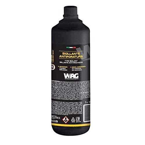 WAG sigillante tubeless schiumoso Senza ammoniaca 1 litro (Liquidi Sigillanti)   tubeless Tyre foaming sealant No Ammonia 1 ltire (Sealant)