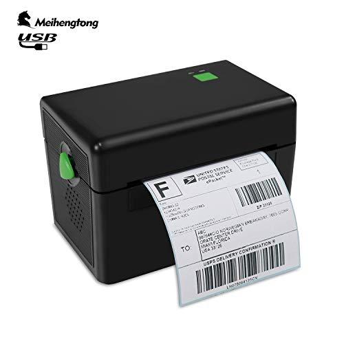 Impresora térmica de 108 mm con etiqueta térmica para impresora de código de barras, puerto USB con cargador de enchufe europeo MHT-DT108B
