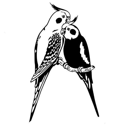 Parrot Bird Interesting Fashion Negro Plata Negro, Cuerpo Decorativo Reflector Stick Body Calcomanía Vinilo Calcomanía, Calcomanías Para Ventanas De Coche, Para Ventana / Pared Calcomanía Para Tienda