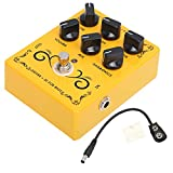 Guitar Distortion Effect Pedal DC 9V Mini Multiple Mode XLR Output Analog Circuit Instrument Accessory CP‑60 with True Bypass
