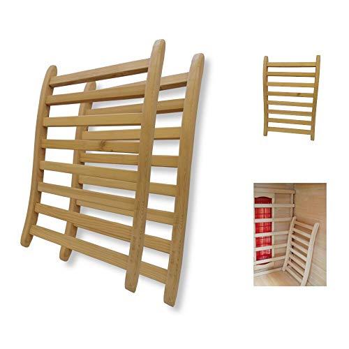 MASILY 2X ergonomische Rückenlehne Sauna Infrarotkabine Wärmekabine Saunazubehör Holz