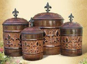 4 Piece Versailles Canister Set with Fresh Seal Covers