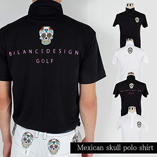 メキシカンスカルGOLFポロシャツ/S〜5Lポロシャツメンズゴルフウェア大きいサイズ/井戸木鴻樹プロ 4L,ホワイト