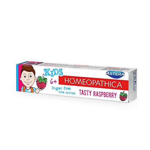 ASTERA Homeopathica KIDS (6+) - Zahnpasta mit Aroma von süßer Himbeere, 50 ml