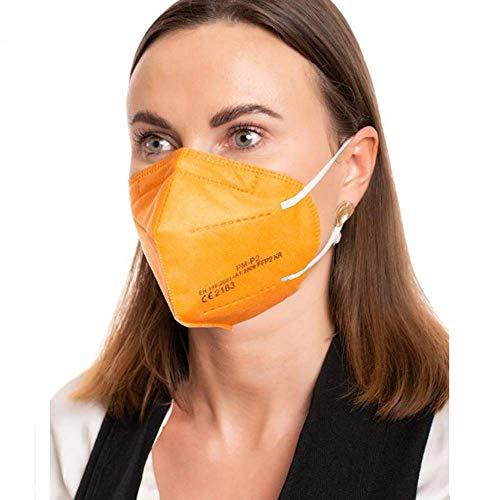 ProMedicalCare. Mundschutz FFP2 Maske orange, Mundschutz Maske FFP2 orange, Masken Mundschutz FFP2, 5er Pack