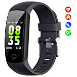 【2019 Updated Version】Fitness Trackers with Heart Rate Monitor, Activity Trackers Watch with Blood