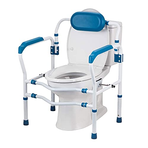 HFFSGS Ayudas de inodoros para discapacitados: barras de agarre para baño - Prevención de caídas - Ajustable antideslizante para adultos, adultos mayores, ancianos, discapacitados, mango acolchado par