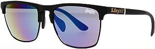 Superdry Unisex Sunglasses - Rubberised Black/Green purple Lens - SDSUPERFLUX-127 - size 56-16-145mm