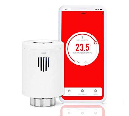 Smart WiFi Termostato – Termostato de radiador compatible con Alexa y Google (adicional termostato de radiador)