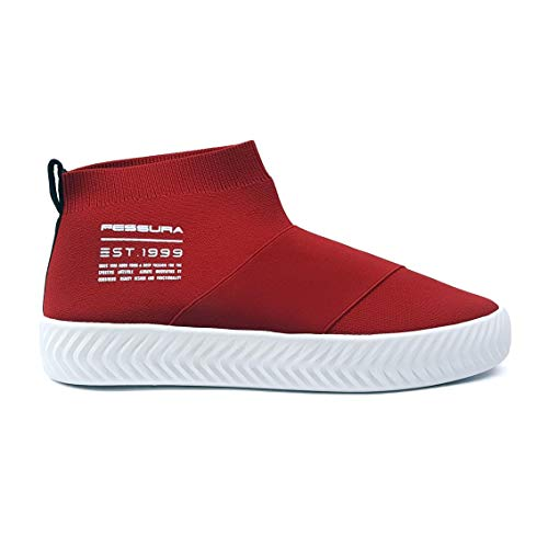 FESSURA - Sneaker Rossa in Tessuto 40