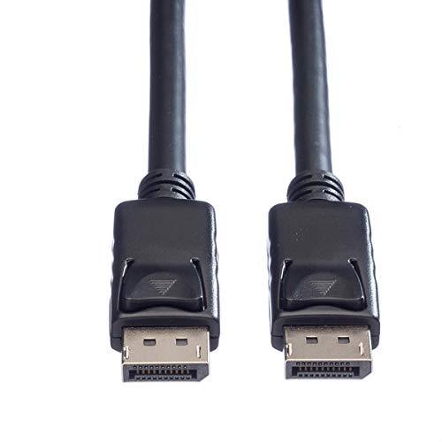 ROLINE DisplayPort Kabel V.1.2 | DP ST-ST | Anschluss von Monitor oder Grafikkarte | Schwarz 2 m | Bildschirmkabel