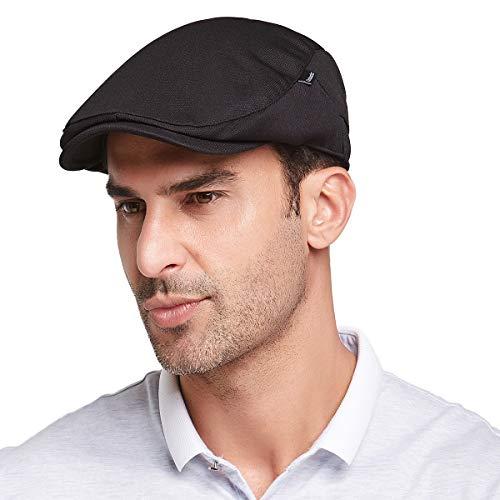 Gisdanchz Boinas De Hombre Boinas De Hombre Sombrero Hombre Gorras De Hombre Invierno Viseras Hombre Gorra Gatsby Planas Mens Flat Cap Newsboy Hats For Men Golf Cabbie Hat Fashion Ivy Hat Negro