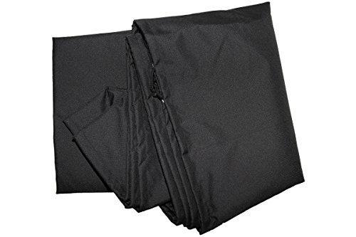 OUTFLEXX Premium Abdeckhaube für ovalen Sonnenschirm, schwarz, wasserbeständig, Ø67 x 157 cm