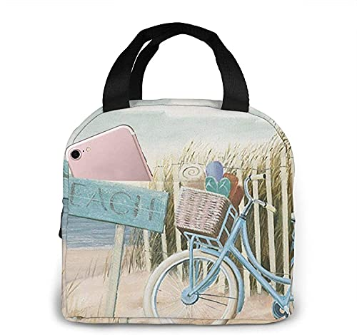 Beach Cruiser Lunch Bag Tote Bag Lunch Box Recipiente aislado para almuerzo para mujer Hombre
