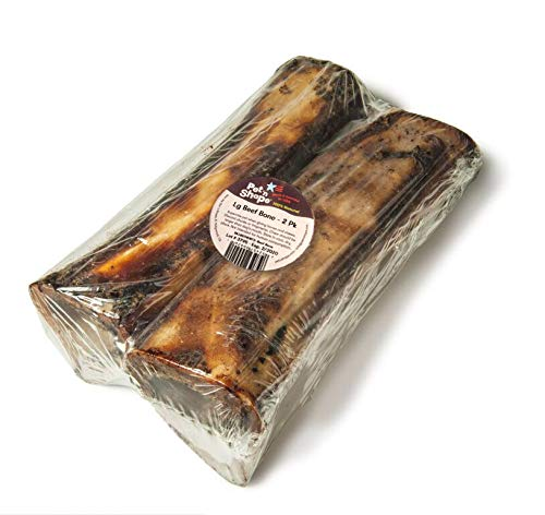Pet 'n Shape Beef Bone Treat - Made & Sourced in The USA - All Natural Dog Chewz, Large, 2 Count