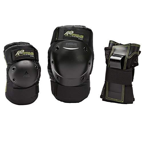 K2 Damen Inline Skates Schoner Prime W Pad Set, Knie-/Ellenbogen-Handgelenkschoner - Prodektoren Skateboard Schutzausrüstung, schwarz, M 3041601.1.1.M