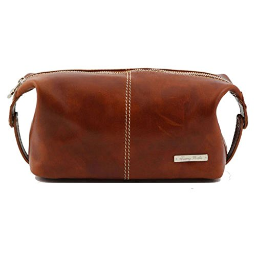 TUSCANY LEATHER - Trousse de toilette en cuir - Miel - Homme