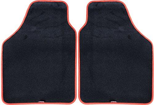 Simoni Racing TSRR Tappeti Dual Anteriori Universali, Bordo Rosso, Set di 2