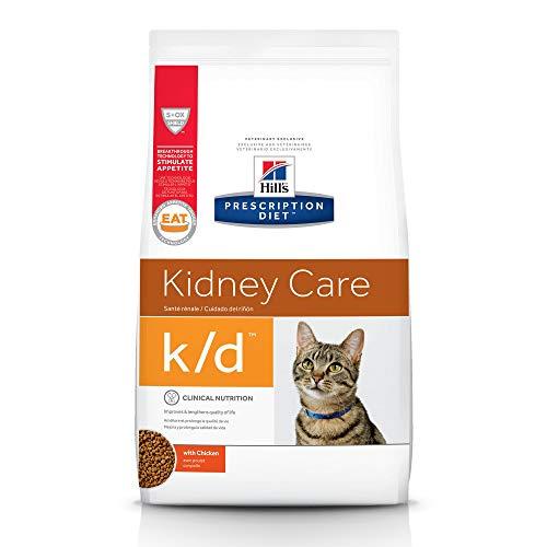 Hill's Prescription Diet k/d Kidney Care with Chicken Dry Cat Food, 8.5 Lb Bag