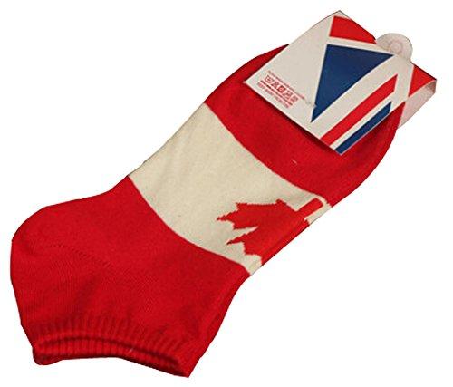BLANCHO BEDDING Lot de 2 Flag Chaussettes en Coton Chaussettes pour Hommes Canada #01