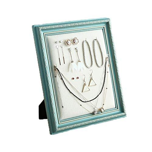 Cajas para joyas Pantalla ganchos collar Organizador del escaparate exhibición del pendiente del caso del soporte de exhibición de la joyería pendiente del collar Inicio Caja de almacenamiento Joyero