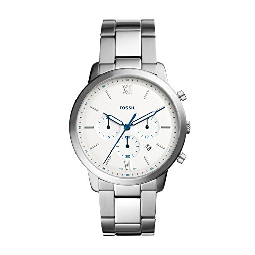 Fossil Herren Chronograph Quarz Smart Watch Armbanduhr mit Edelstahl Armband FS5433