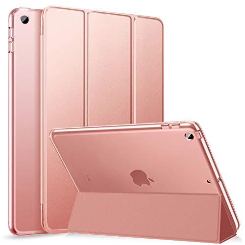 ZtotopHülle Hülle für iPad 10.2 Hülle, Schlanke Hülle für iPad 8. Generation (2020) / 7. Generation (2019), Durchscheinende Mattierte Harte Rückseite für iPad 10.2 2020/2019 Zoll, Roségold