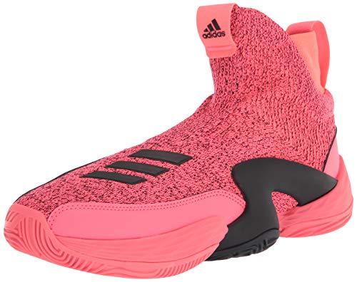 adidas Unisex N3Xt L3V3L 2020 Basketball Shoe, Signal Pink/Black/White, 17 US Men