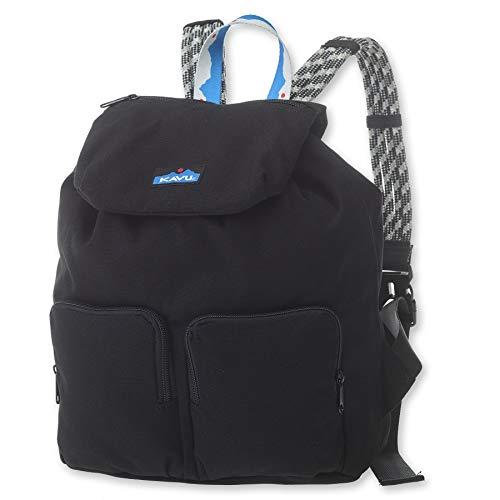 KAVU Ridgeview Rucksack Semi Padded Rope Backpack - Black