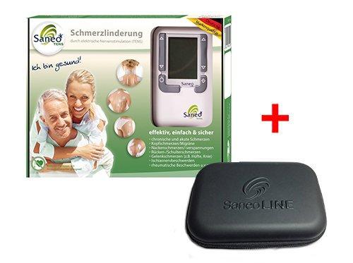 SaneoTENS + Case * Schmerzlinderung * deutsche Markenqualität * Medizinprodukt * Tensgerät