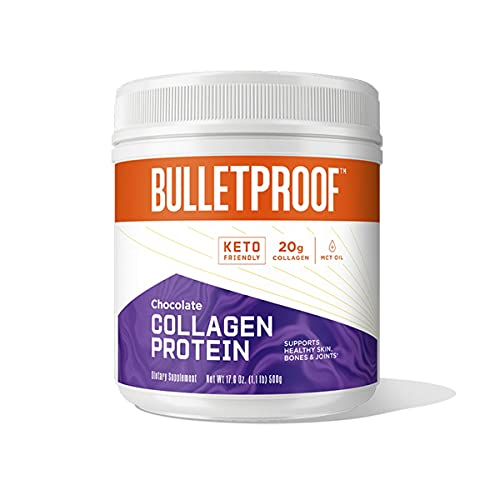 Bulletproof Collagen Peptides Protein Powder - Chocolate Flavored Hydrolyzed, Grass Fed, Pasture Raised, Ketogenic Diet, Amino Acid Building Blocks for High Performance (17.6 Ounces)500gr.