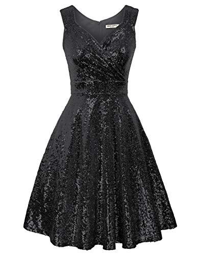 GRACE KARIN perlen Kleid 1950er Kleider Rockabilly Vintage Kleid Winter cocktailkleid CL1061-3 2XL