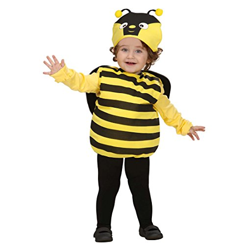NET TOYS Bienen Kostüm Bienenkostüm Kinder 90-98 cm 1-2 Jahre Kinderkostüm Hummel Faschingskostüm Bienchen Babykostüm Tierkostüm Karnevalskostüm Baby