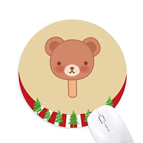 Eis aus Cartoon Bear Eis Eis Eis Eis rund Gummi Maus Pad Weihnachtsdekoration
